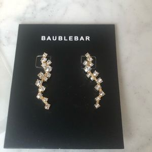 BaubleBar Farah Gold Ear Crawlers NWT